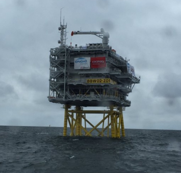 Installation offshore Burbo Bank
