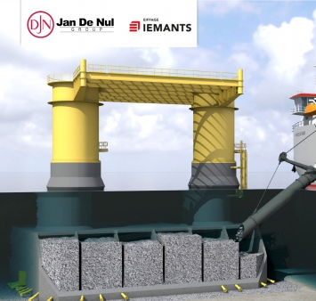 Iemants et Jan De Nul s'allient pour des Gravity Based Foundations de Kriegers Flak