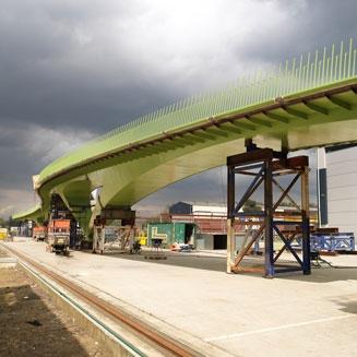 Radfahrerbrücke Graaf Alardsingel